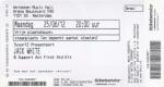 Jack White 06/25/2012 concert ticket (apoplife.nl)