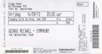 George Michael 09/14/2012 concert ticket (apoplife.nl)