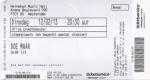 Doe Maar 02/12/2013 concert ticket (apoplife.nl)