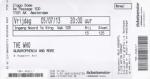 Who 07/05/2013 concert ticket (apoplife.nl)