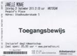 Janelle Monae 09/21/2013 concert ticket (apoplife.nl)