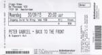 Peter Gabriel 09/30/2013 concert ticket (apoplife.nl)