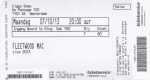 Fleetwood Mac 10/07/2013 concert ticket (apoplife.nl)