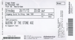 Queens Of The Stone Age 11/26/2013 concert ticket (apoplife.nl)