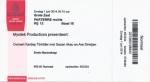 Sezen Aksu 06/01/2014 concert ticket (apoplife.nl)