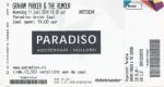 Graham Parker 06/11/2014 concert ticket (apoplife.nl)