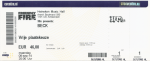 Beck 09/08/2014 concert ticket (apoplife.nl)