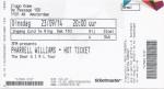 Pharrell Williams 09/23/2014 concert ticket (apoplife.nl)