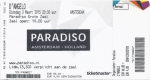D'Angelo 03/03/2015 concert ticket (apoplife.nl)