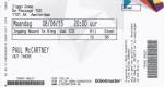 Paul McCartney 06/08/2015 concert ticket (apoplife.nl)