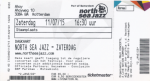 North Sea Jazz 07/11/2015 concert ticket (apoplife.nl)