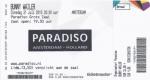 Bunny Wailer 07/21/2015 concert ticket (apoplife.nl)
