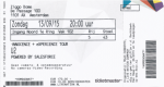 U2 09/13/2015 concert ticket (apoplife.nl)