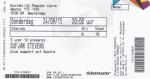 Sufjan Stevens 09/24/2015 concert ticket (apoplife.nl)