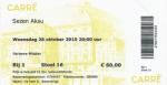 Sezen Aksu 10/28/2015 concert ticket (apoplife.nl)