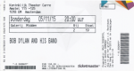 Bob Dylan 11/05/2015 concert ticket (apoplife.nl)