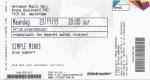 Simple Minds 11/23/2015 concert ticket (apoplife.nl)