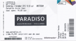 Leftfield 12/03/2015 concert ticket (apoplife.nl)