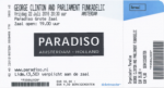 George Clinton 07/22/2016 concert ticket (apoplife.nl)