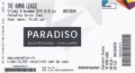 Human League 11/18/2016 concert ticket (apoplife.nl)