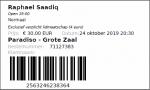 Raphael Saadiq 10/24/2019 concert ticket (apoplife.nl)