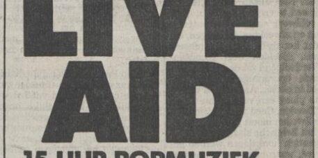 Live Aid - de Volkskrant 07/12/1985 (apoplife.nl)