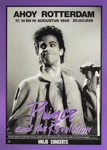 Prince & The Revolution 18-08-1986 poster (apoplife.nl)