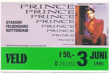 Prince 06/03/1990 concert ticket (apoplife.nl)