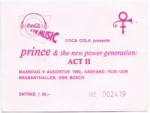 Prince & The New Power Generation 09-08-1993 concertkaartje (apoplife.nl)