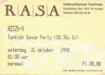 Aziza-A 31-10-1998 concertkaartje (apoplife.nl)