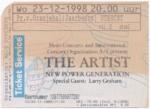 The Artist 23-12-1998 concertkaartje (apoplife.nl)