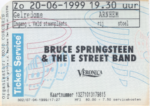 Bruce Springsteen 20-06-1999 concertkaartje (apoplife.nl)