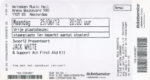 Jack White 25-06-2012 concertkaartje (apoplife.nl)
