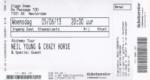 Neil Young & Crazy Horse 05-06-2013 concertkaartje (apoplife.nl)
