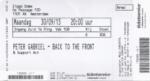 Peter Gabriel 30-09-2013 concertkaartje (apoplife.nl)