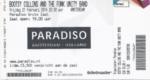 Bootsy Collins 21-02-2014 concertkaartje (apoplife.nl)