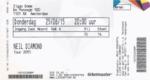 Neil Diamond 25-06-2015 concertkaartje (apoplife.nl)