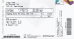 Faithless 13-12-2015 concertkaartje (apoplife.nl)