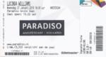 Lucinda Williams 27-01-2016 concertkaartje (apoplife.nl)