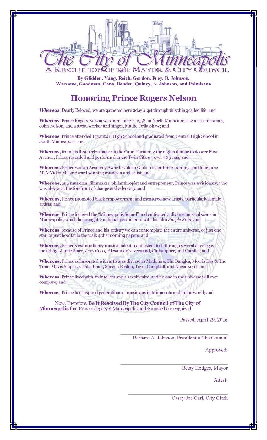 City Of Minneapolis Prince Resolution 04/29/2016 (minneapolismn.gov)