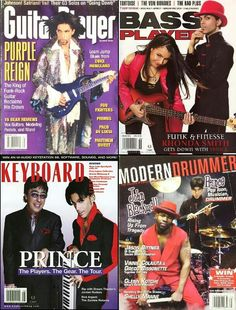 Prince on the cover of niche magazines