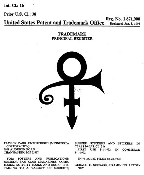 Prince Registered trademark O(+> (source unknown)