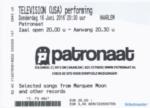 Television 16-06-2016 concertkaartje (apoplife.nl)