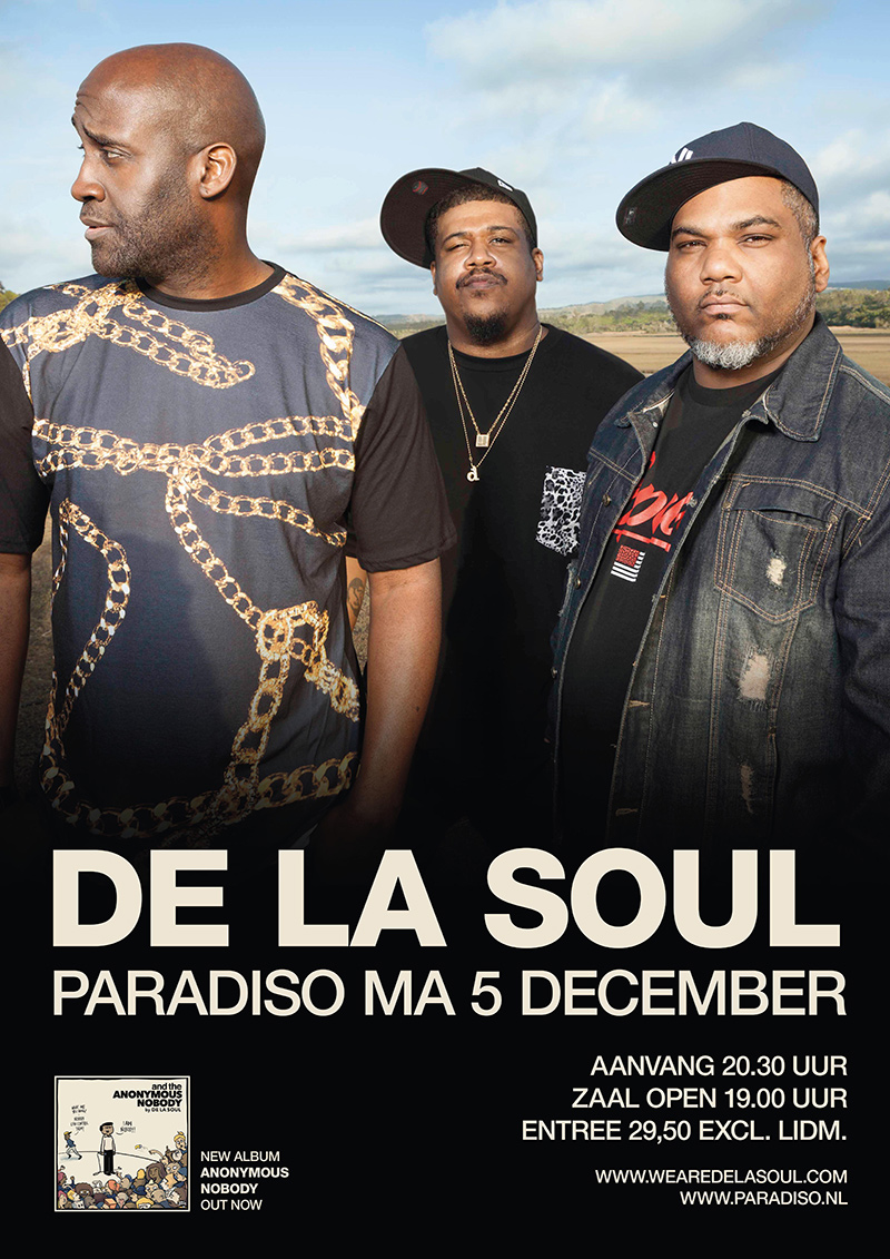 De La Soul 05-12-2016 Advertentie (paradiso.nl)