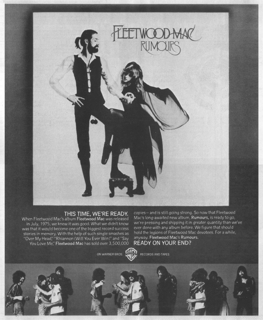 Fleetwood Mac - Rumours advert (superseventies.com)