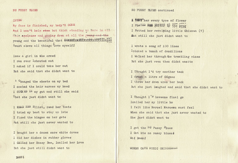 Grinderman - No Pussy Blues lyrics (grinderman.com)