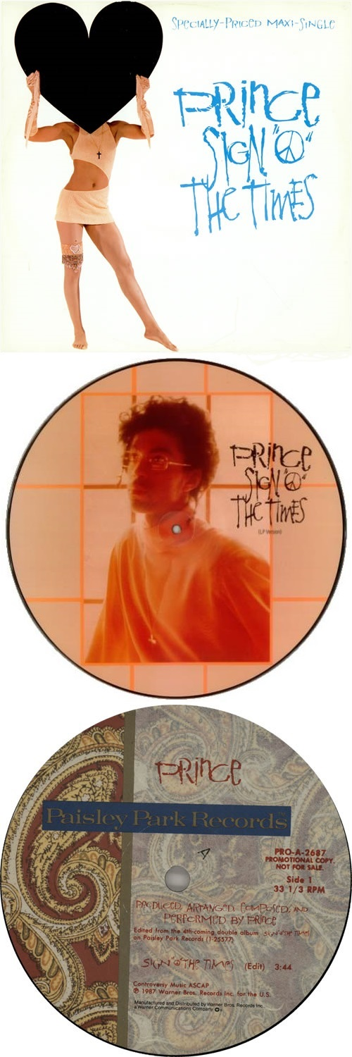 Prince - Sign O' The Times (single, picture-disc, promo) (eil.com)