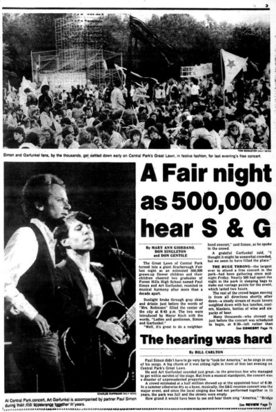 Simon And Garfunkel - New York Daily News 09/20/1981 (nydailynews.com)