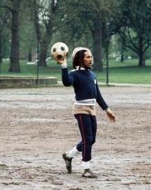 Bob Marley - Soccer at Battersea Park London 1977 (Adrian Boot)