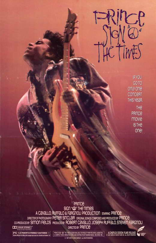 Prince - Sign O' The Times movie poster (moviepostershop.com)